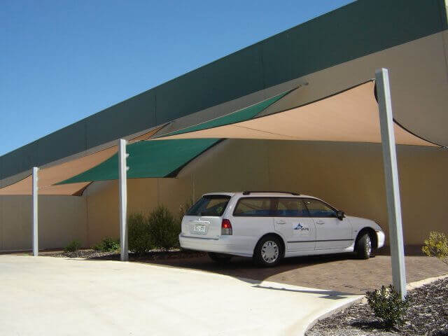 shade sail - voile d'ombrage triangulaire - protection uv